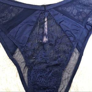 Victoria's Secret Intimates & Sleepwear - 3 for $18 NWT VS High Cut Bikini Navy L